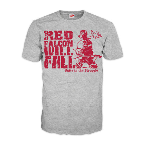 Contra Propaganda Red Falcon Official Men's T-shirt (Heather Grey) - Urban Species Mens Short Sleeved T-Shirt