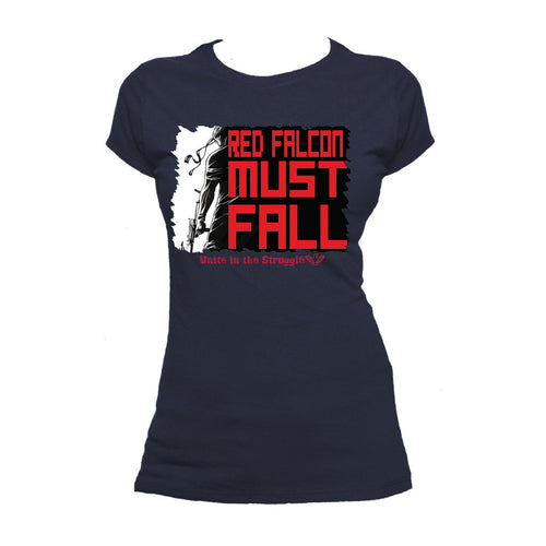 Contra Propaganda Red Falcon 02 Official Women's T-shirt (Navy) - Urban Species Ladies Short Sleeved T-Shirt