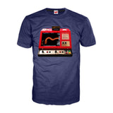 Gradius Arcade Boss Dragon Official Men's T-shirt (Navy) - Urban Species Mens Short Sleeved T-Shirt