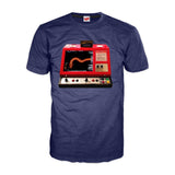 Marvel Captain America Distressed Logo Men's Navy T-Shirt