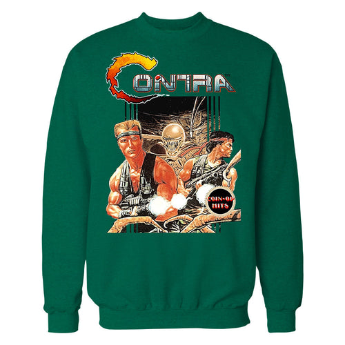 Contra Box Art Official Sweater (Green) - Urban Species Mens Sweatshirt