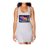 Bomberman TV Screen Long Tank Dress
