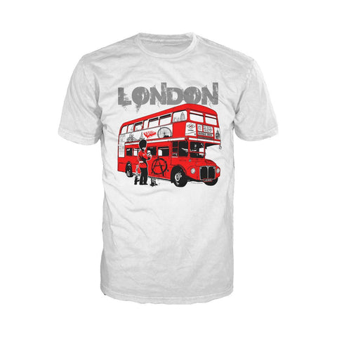London Anarchy Men's T-shirt (White) - Urban Species Mens Short Sleeved T-Shirt