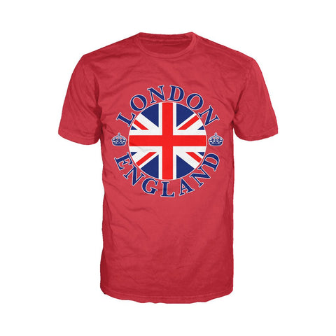 London Crown Badge Men's T-shirt (Red) - Urban Species Mens Short Sleeved T-Shirt
