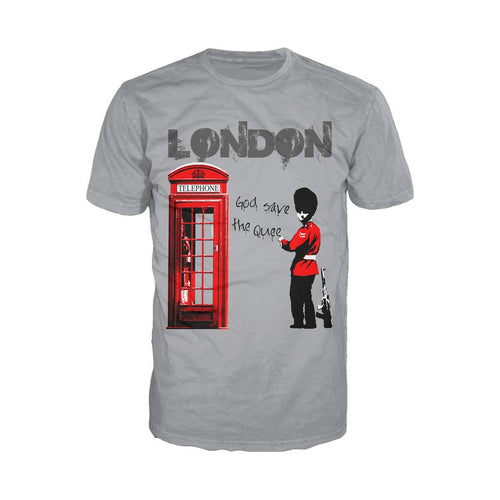 London God Save The Queen Men's T-shirt (Heather Grey)
