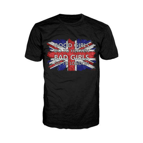 London Good Girls Go To Heaven  Bad Girls Go To London Men's T-shirt (Black)