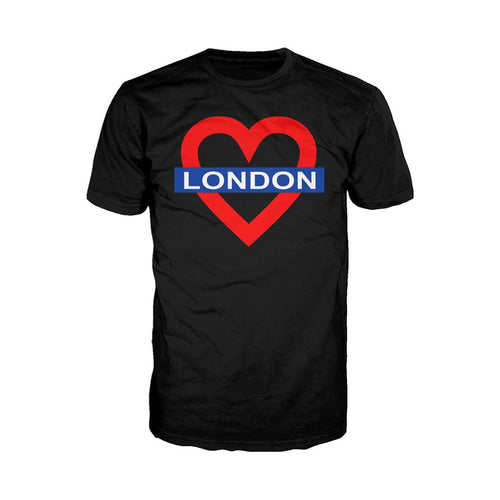 Heart of London Men's T-shirt (Black) - Urban Species Mens Short Sleeved T-Shirt