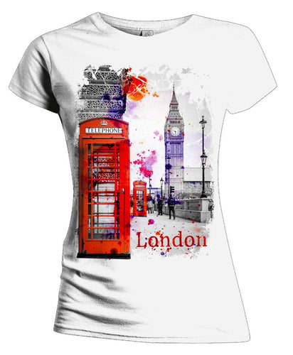 London Fusion Phone Box Women's T-shirt (White)