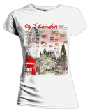 London Fusion Street Signs Women's T-shirt (White)