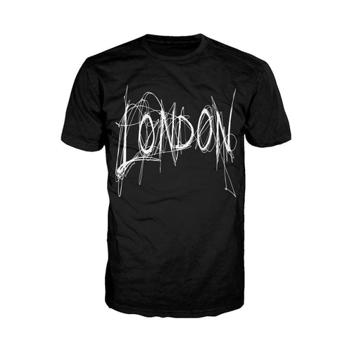 London Scribble Men's T-shirt (Black) - Urban Species Mens Short Sleeved T-Shirt