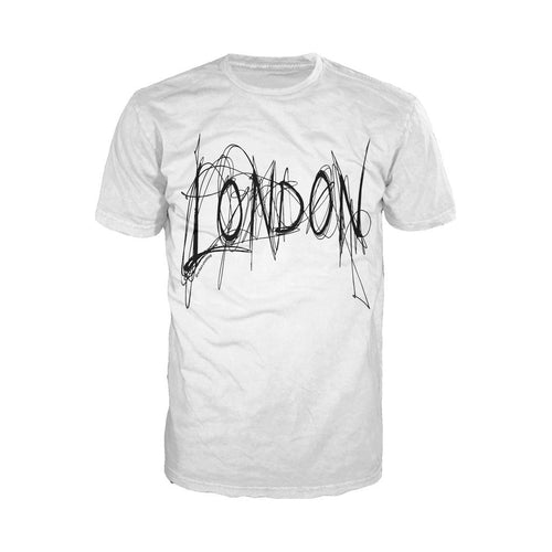 London Scribble Men's T-shirt (White) - Urban Species Mens Short Sleeved T-Shirt