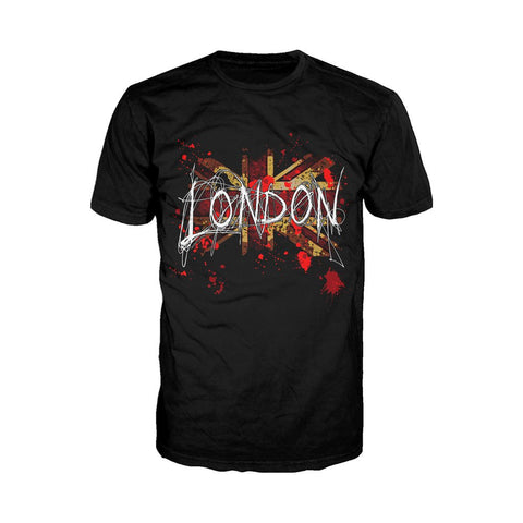 London Union Jack Scribble Men's T-shirt (Black)