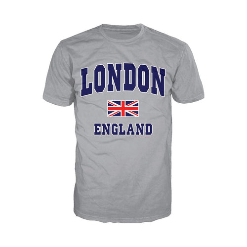 London Union Jack England Men's T-shirt (Heather Grey) - Urban Species Mens Short Sleeved T-Shirt