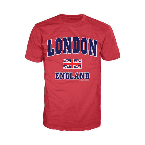 London Union Jack England Men's T-shirt (Red) - Urban Species Mens Short Sleeved T-Shirt