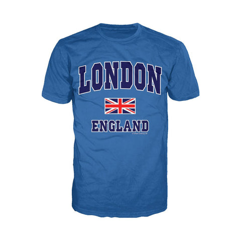 London Union Jack England Men's T-shirt (Royal Blue)