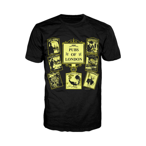 Pubs of London Men's T-shirt (Black) - Urban Species Mens Short Sleeved T-Shirt
