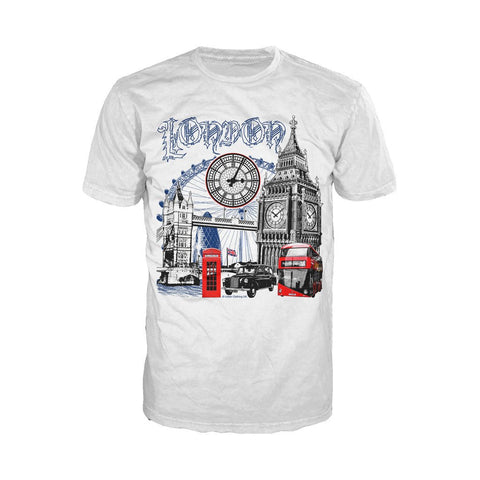 London Technicolour Men's T-shirt (White)