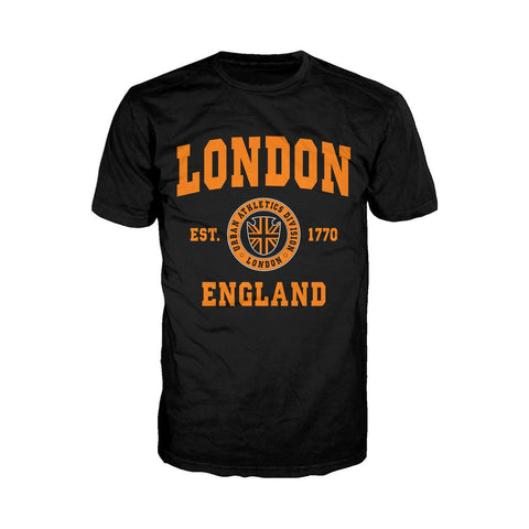 London Urban Athletic Orange Men's T-shirt (Black)