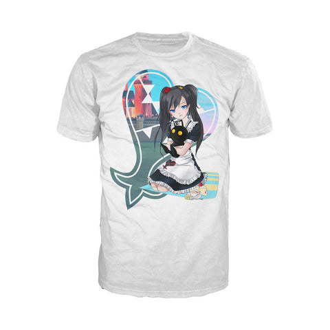 Otaku Caf̩ Heartless Official Men's T-shirt (White) - Urban Species Mens Short Sleeved T-Shirt