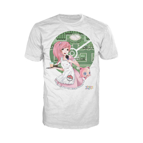 Otaku Caf̩ Jiggly Official Men's T-shirt (White)