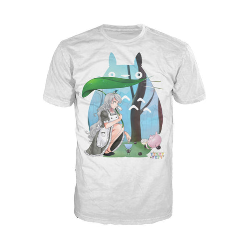Otaku Caf̩ Toto Official Men's T-shirt (White) - Urban Species Mens Short Sleeved T-Shirt