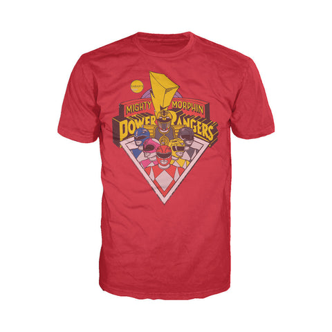 Power Rangers Logo Group Official Men's T-shirt (Red)