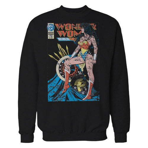 DC Comics Wonder Woman Cover #55 Official Sweatshirt (Black) - Urban Species Sweatshirt