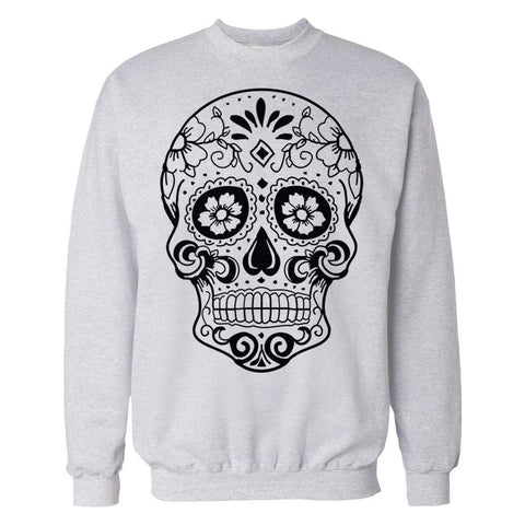 Sugar Skull Men's Sweatshirt (Heather Grey)