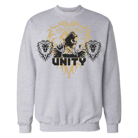 Warcraft Alliance Poster Unity Official Sweatshirt (Heather Grey)
