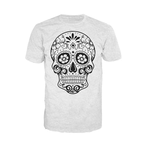 Sugar Skull Men's T-shirt (Heather Grey) - Urban Species Mens Short Sleeved T-Shirt