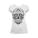 Sugar Skull Women's T-shirt (Heather Grey)