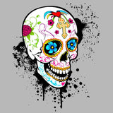 Sugar Skull Gothic Men's T-shirt (Heather Grey) - Urban Species Mens Short Sleeved T-Shirt