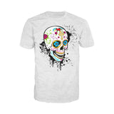 Sugar Skull Gothic Men's T-shirt (Heather Grey)