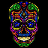 Sugar Skull Mexican Skull Men's T-shirt (Black)