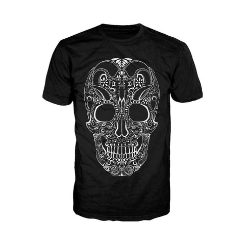 Sugar Skull Tattoo Skull Men's T-shirt (Black)