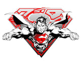 DC Comics Superman Logo Inc. Official Men's T-shirt (White)