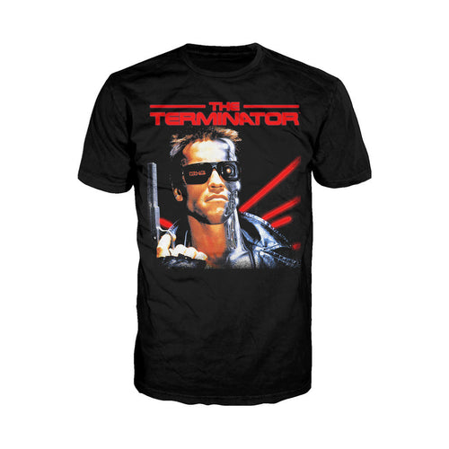 Terminator Classic Movie Poster Official Men's T-shirt (Black) - Urban Species Mens Short Sleeved T-Shirt
