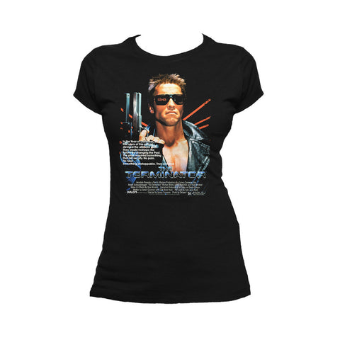 Terminator Movie Poster Official Women's T-shirt (Black)