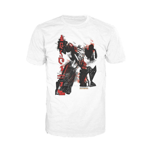 Transformers Fall of Cybertron Megatron Rain Official Men's T-shirt (White)