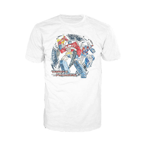 Transformers Autobots Attack! Official Men's T-shirt (White)