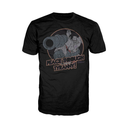 Transformers Megatron Tyranny Official Men's T-shirt (Black)
