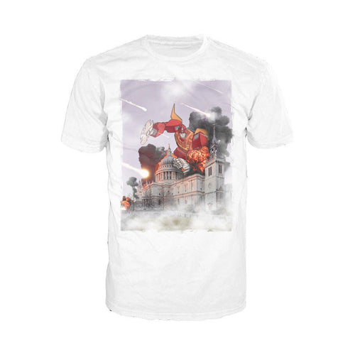 Transformers Hot Rod at St. Pauls Official Men's T-shirt (White) - Urban Species Mens Short Sleeved T-Shirt
