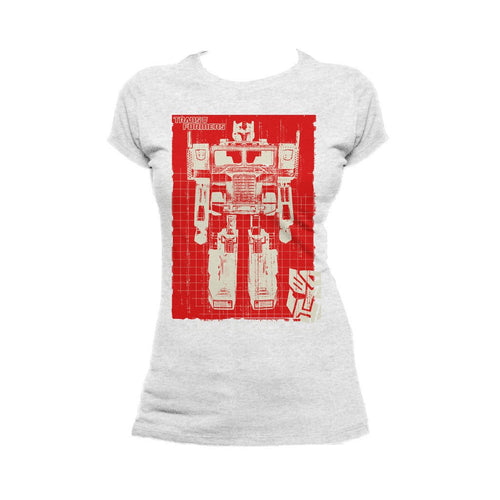 Transformers Prime Toy X Ray Official Women's T-shirt (Heather Grey)