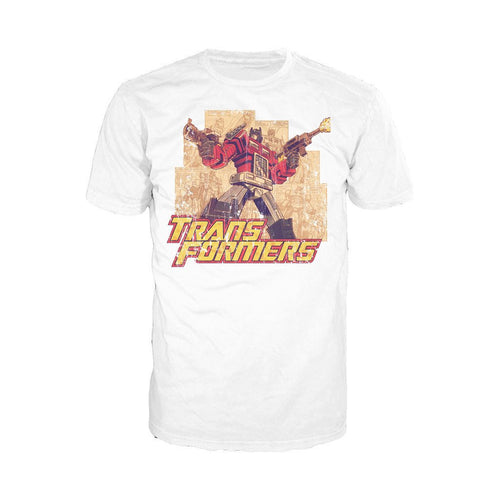 Transformers Prime Montage Official Men's T-shirt (White)