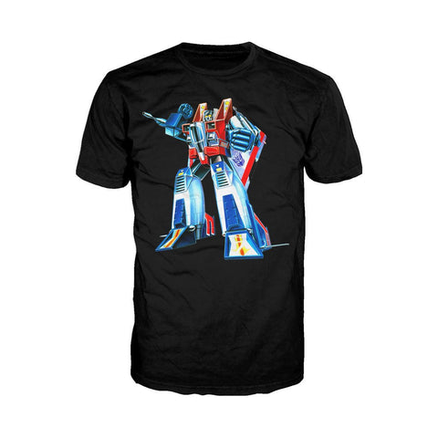 Transformers Starscream G1 Official Men's T-shirt (Black) - Urban Species Mens Short Sleeved T-Shirt