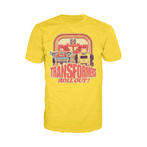 Transformers Toy TF Roll Out Official Men's T-shirt (Yellow) - Urban Species Mens Short Sleeved T-Shirt