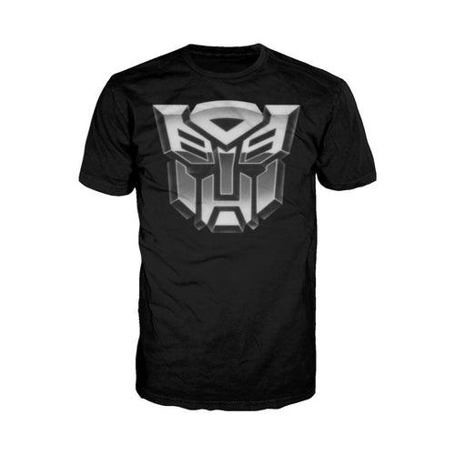 Transformers Autobot B&W Logo Official Men's T-shirt (Black) - Urban Species Mens Short Sleeved T-Shirt