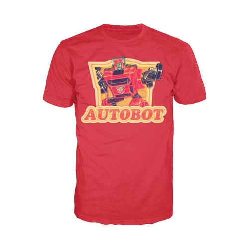 Transformers Autobot Cliffjumper Logo Official Men's T-shirt (Red) - Urban Species Mens Short Sleeved T-Shirt