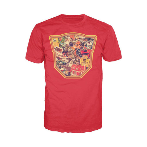 Transformers Autobot Montage Logo Official Men's T-shirt (Red)