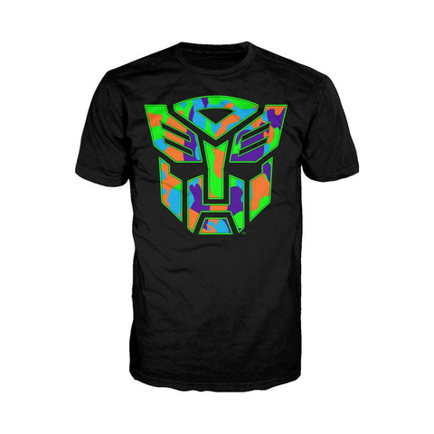 Transformers Autobots Neon Camo Official Men's T-shirt (Black)